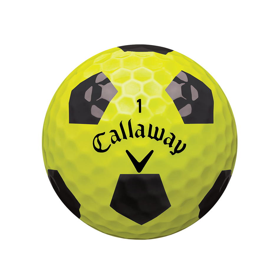 Chrome Soft X Truvis Yellow Golf Balls - View 2