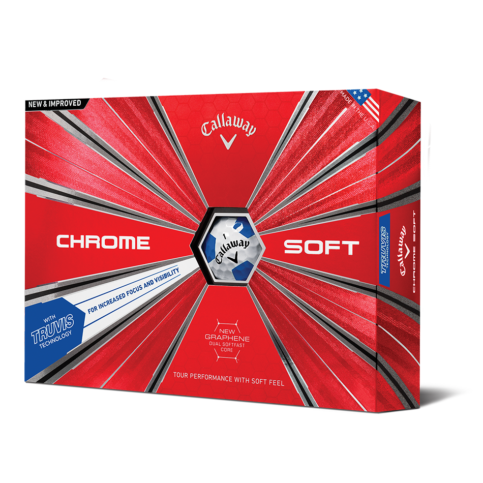 Chrome Soft Truvis Blue Golf Balls - Featured