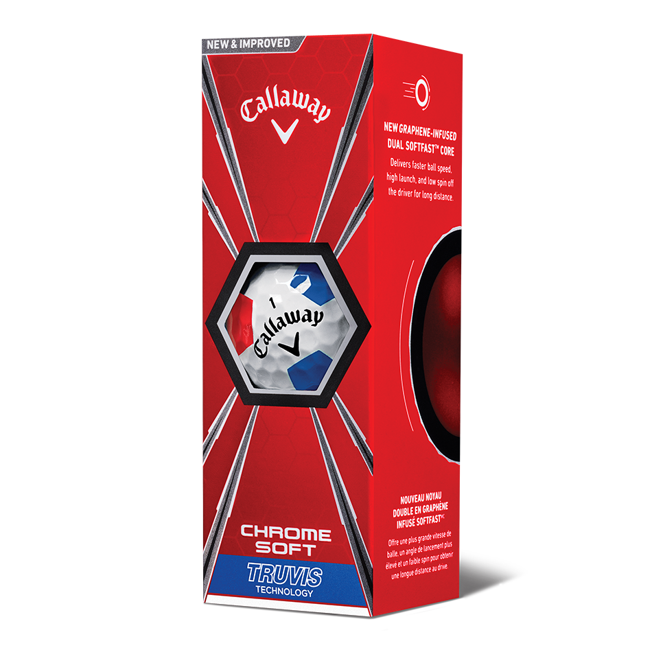 Chrome Soft Truvis Red & Blue Golf Balls - View 2
