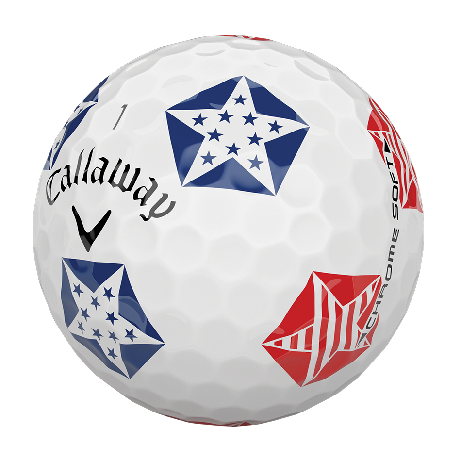 Chrome Soft Truvis Stars and Stripes 18 Golf Balls - View 4