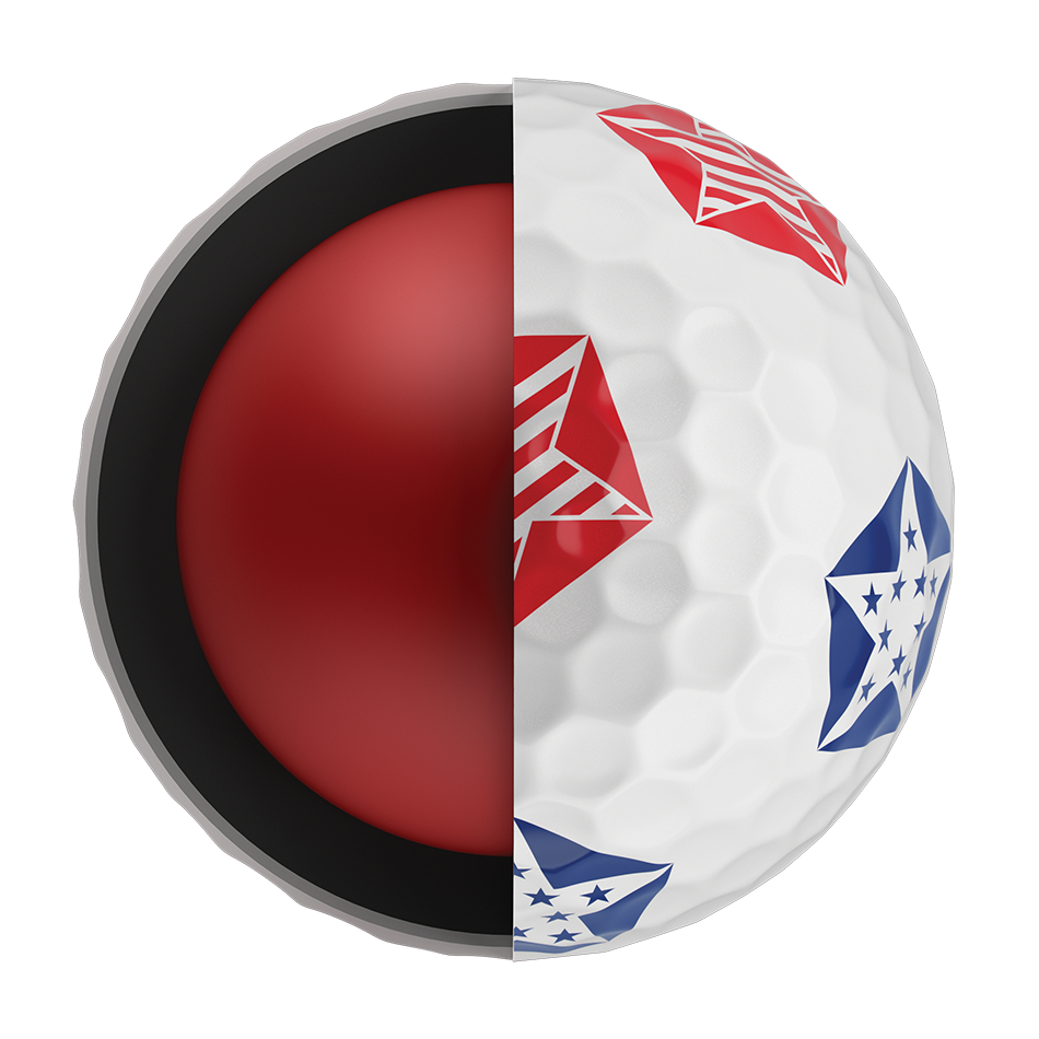 Chrome Soft Truvis Stars and Stripes 18 Golf Balls - View 5