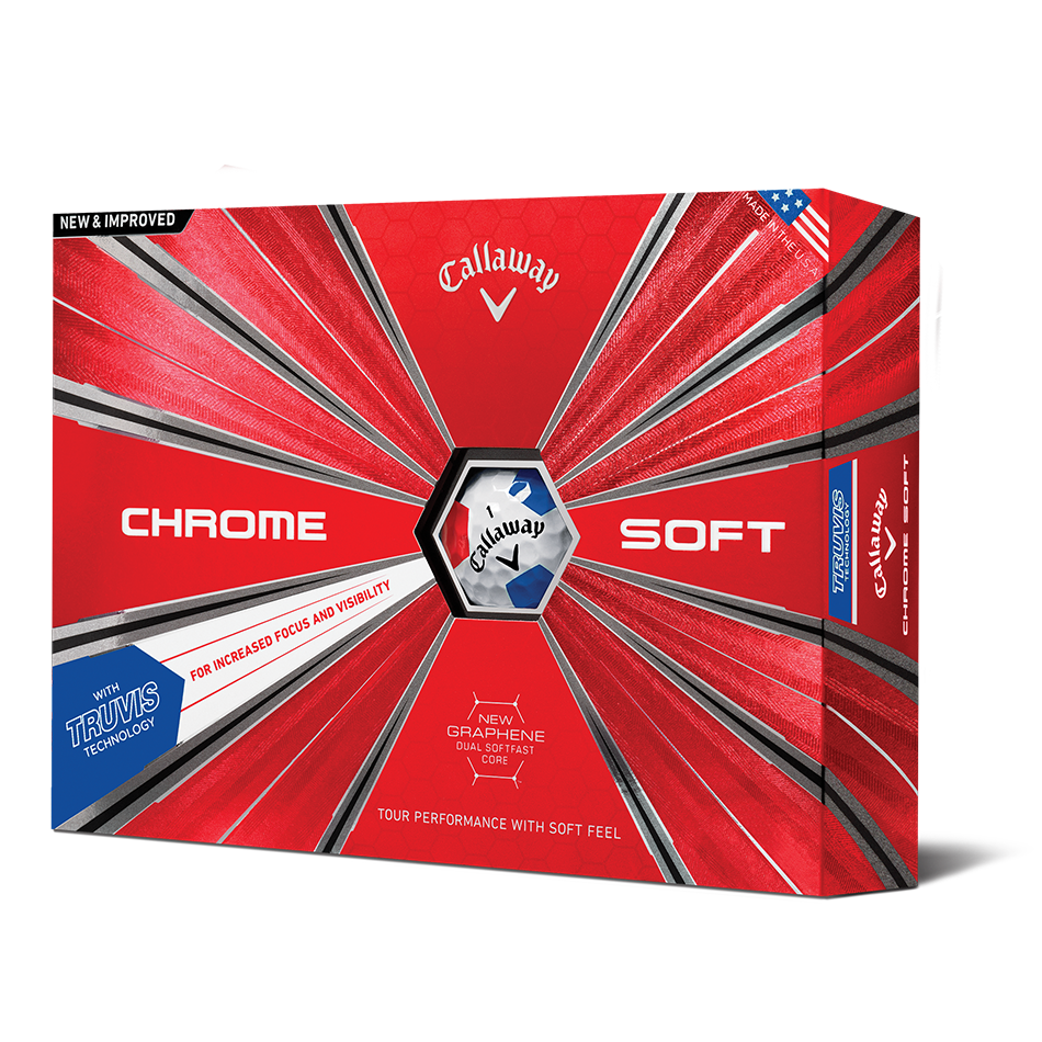 Chrome Soft Truvis Red & Blue Golf Balls