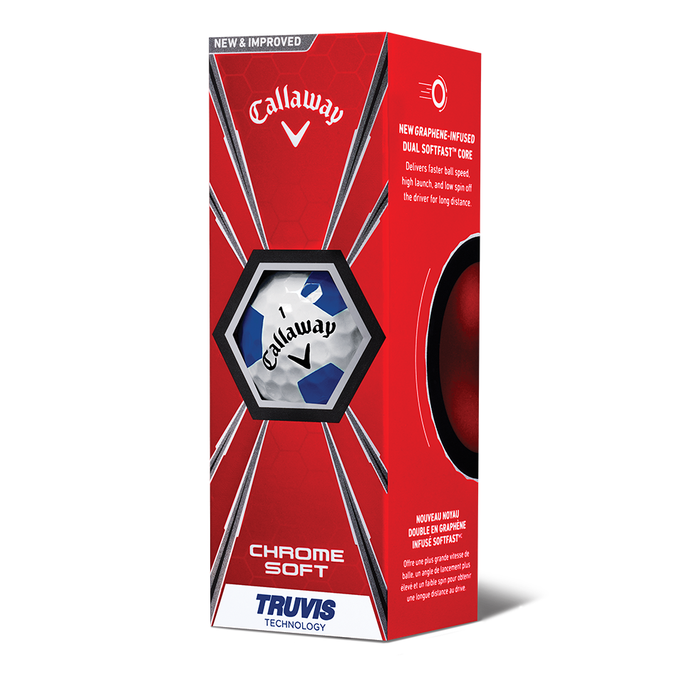 Chrome Soft Truvis Blue Golf Balls - View 2
