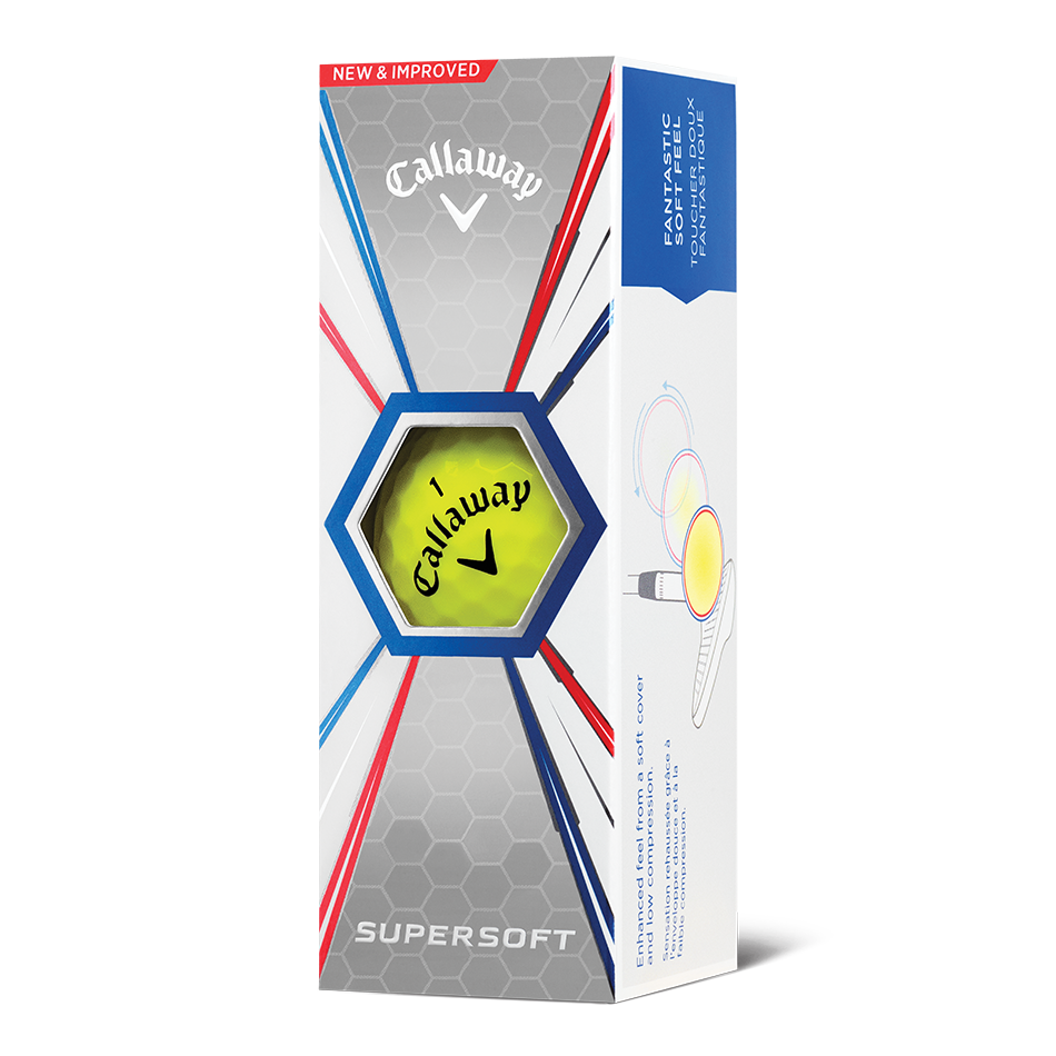 Callaway Supersoft Yellow Golf Balls - Personalised - View 2