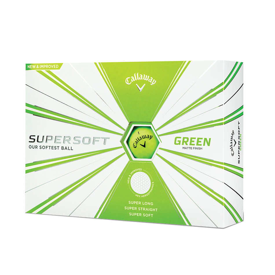 Callaway Supersoft Matte Green Golf Balls - Personalised - View 1