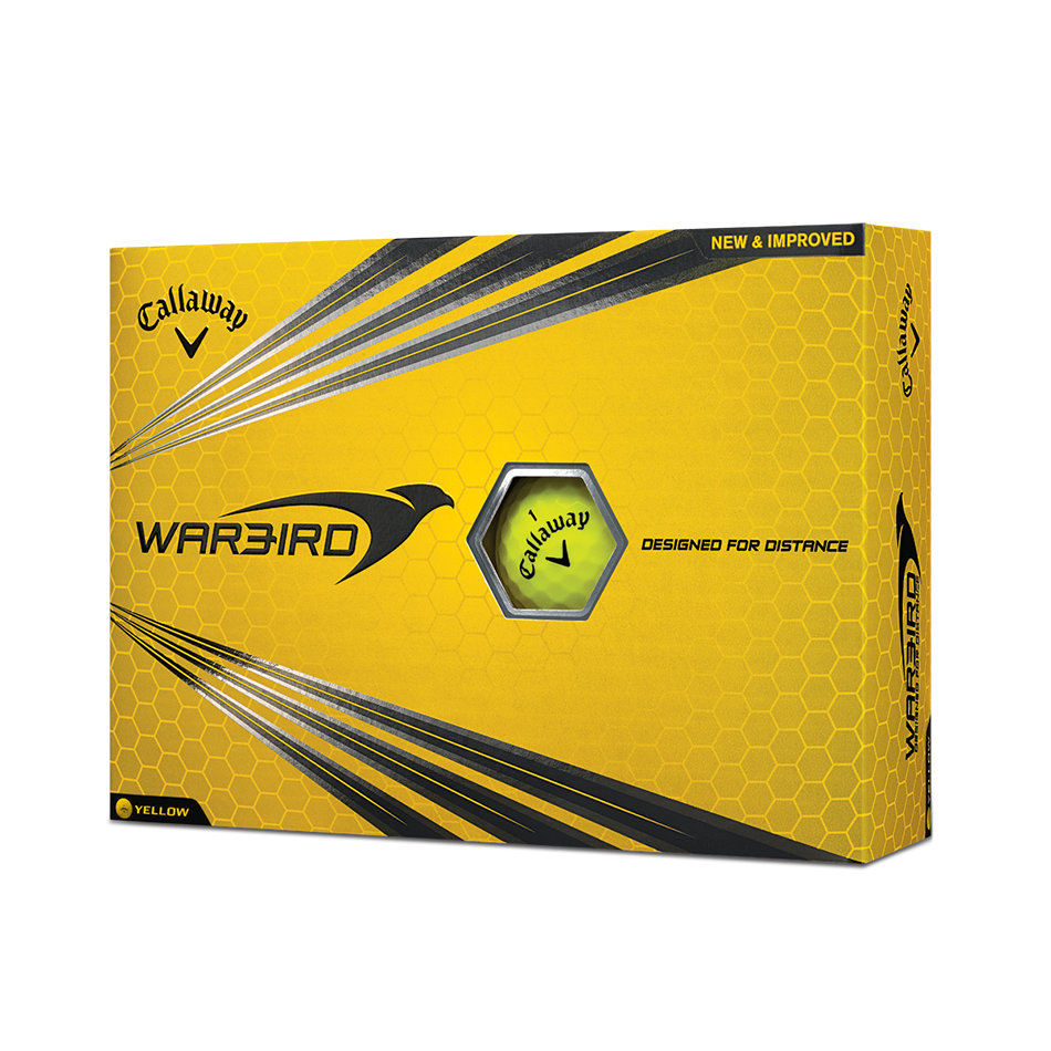 Warbird Yellow Golf Balls - Personalised - Featured