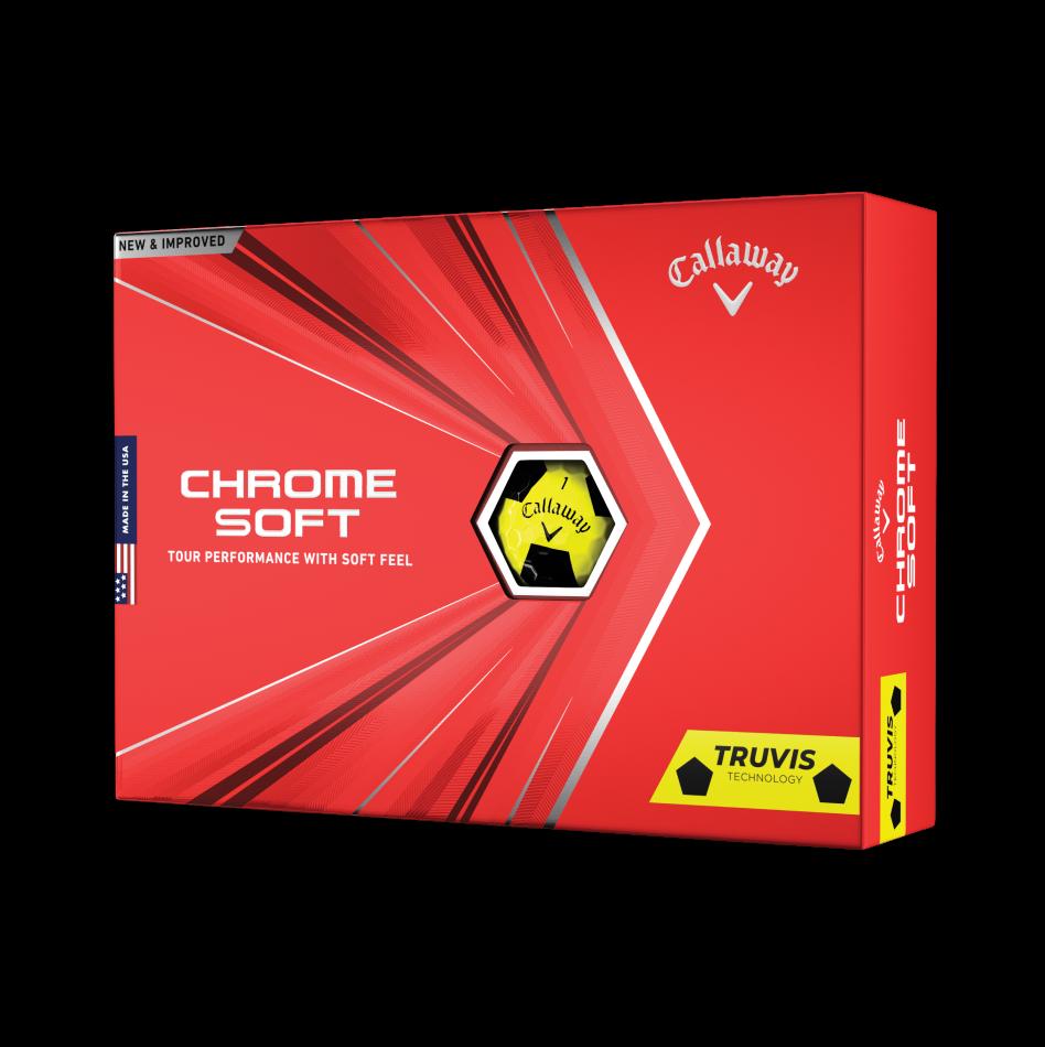 Chrome Soft Truvis Yellow Golf Balls - Featured