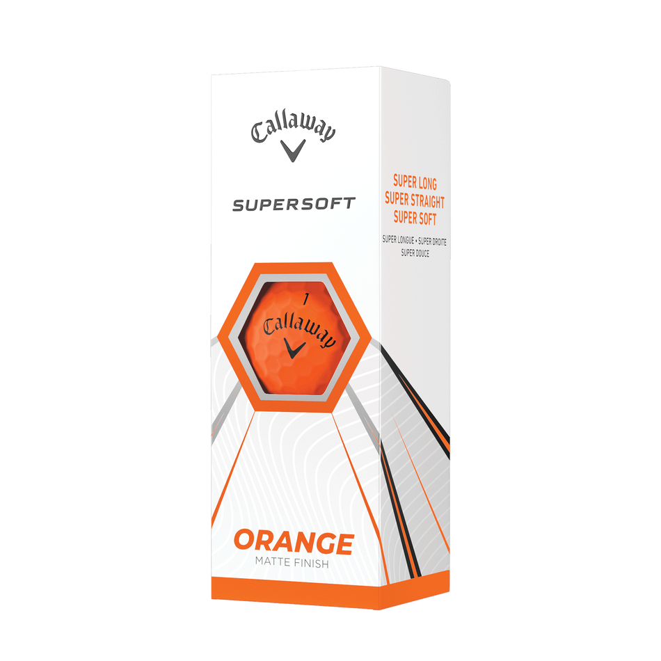 Callaway Supersoft Matte Orange Golf Balls - View 2