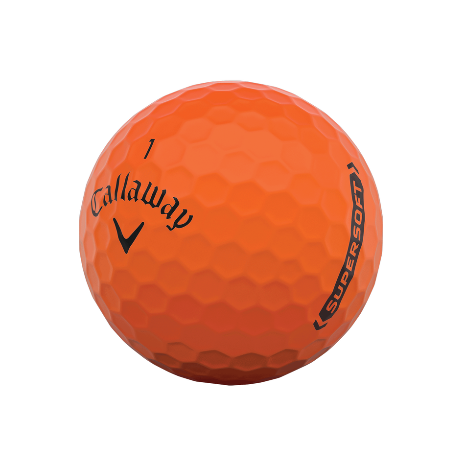 Callaway Supersoft Matte Orange Golf Balls - View 4