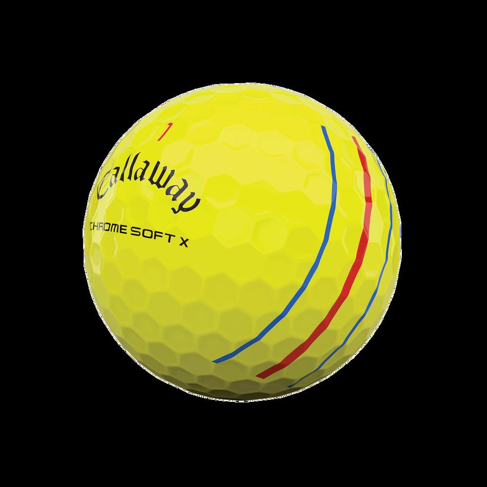 Chrome Soft X Triple Track Yellow Golf Balls - View 4