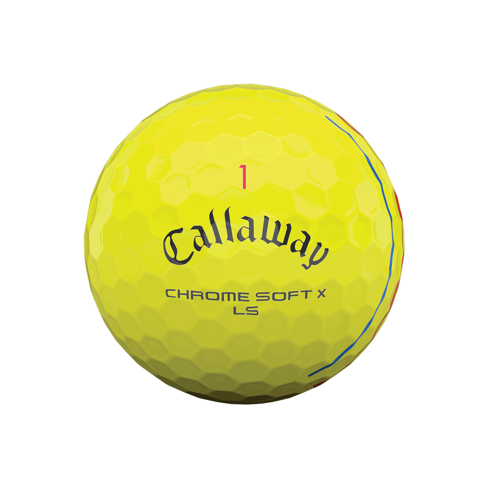 Chrome Soft X LS Yellow Triple Track Golf Balls - View 3