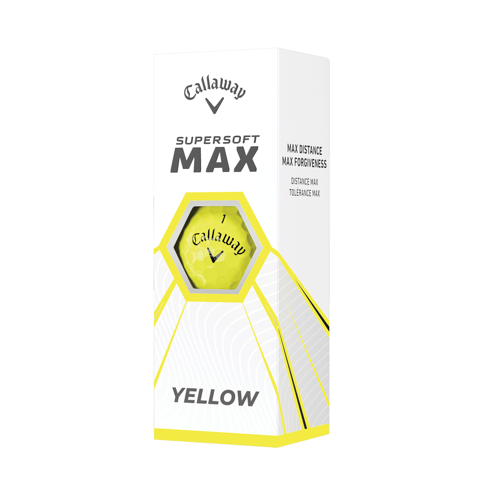 Callaway Supersoft MAX Yellow Golf Balls - View 2