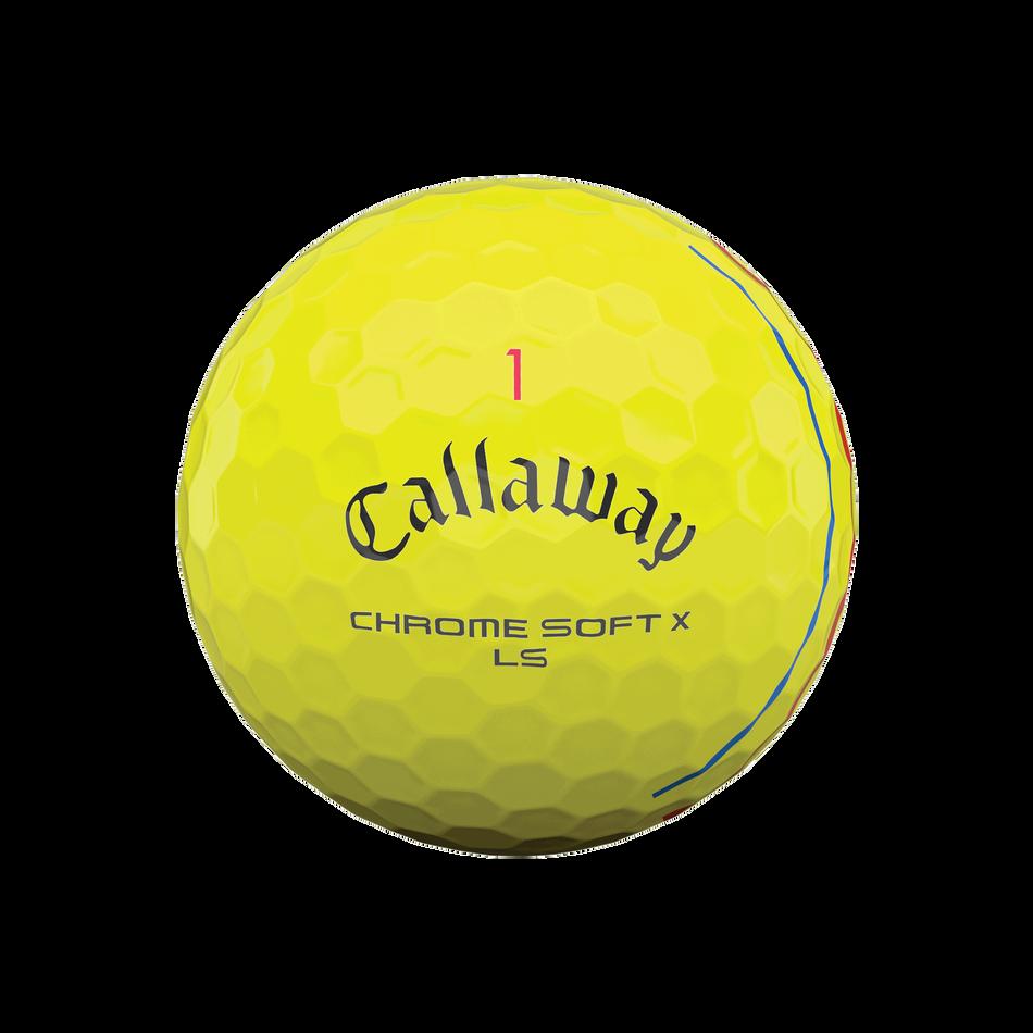 Chrome Soft X LS Yellow Triple Track Golf Balls - View 3