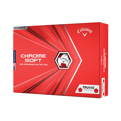 Chrome Soft Truvis Red Golf Balls Thumbnail
