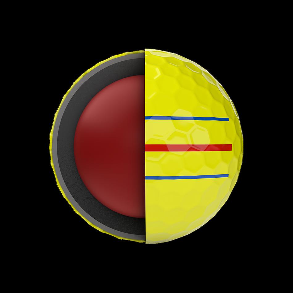 Chrome Soft Yellow Triple Track Golf Balls - View 5