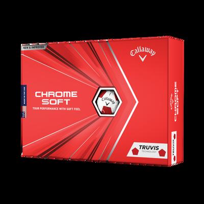 Chrome Soft Truvis Red Golf Balls Thumbnail