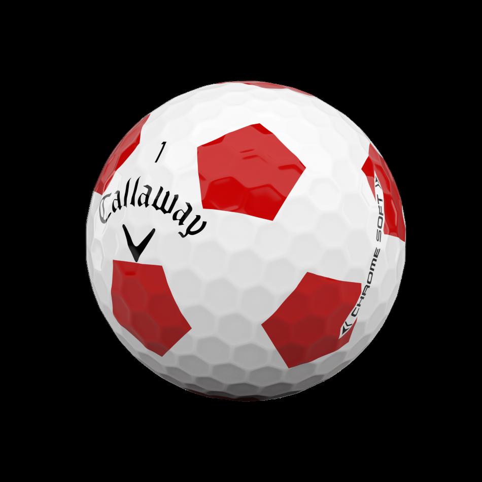 Chrome Soft Truvis Red Golf Balls - View 4
