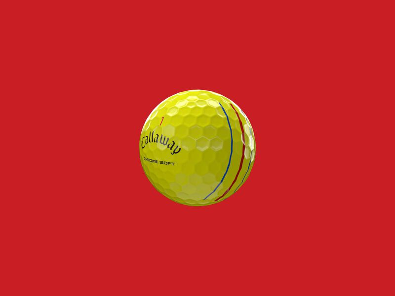 Chrome Soft Yellow Triple Track Golf Balls - Featured