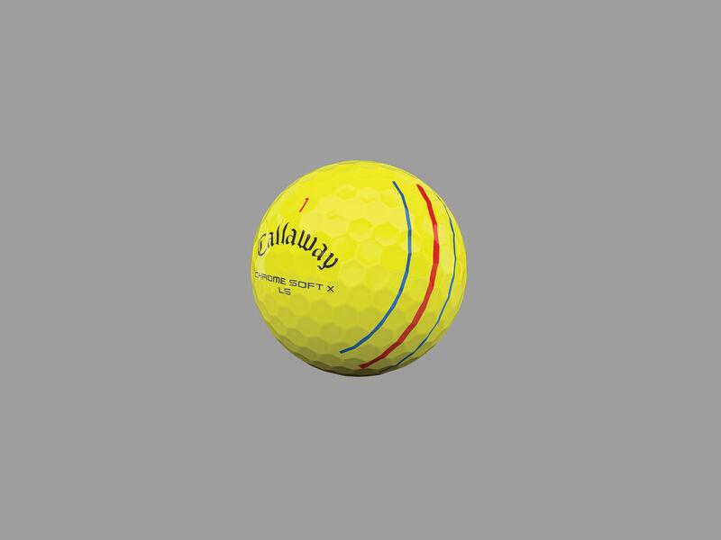 Chrome Soft X LS Yellow Triple Track Golf Balls - Featured