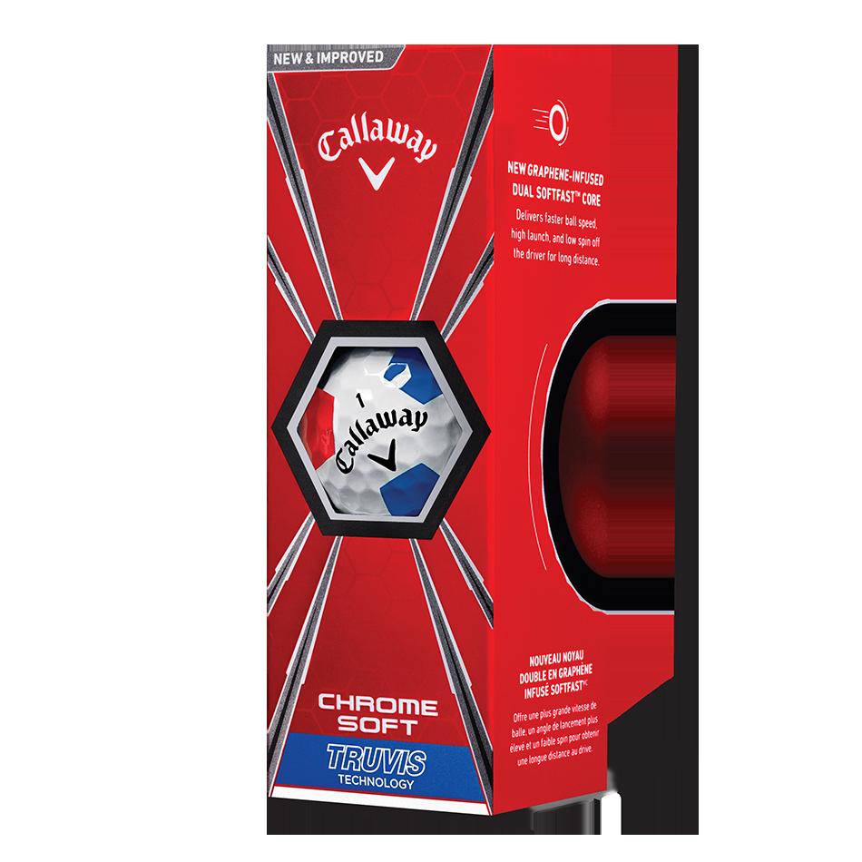 Chrome Soft Truvis Red & Blue Golf Balls - View 2