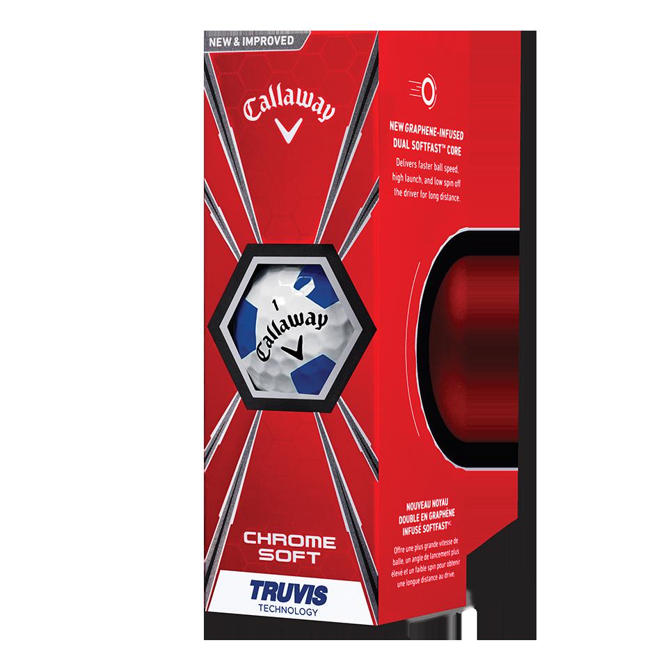 Chrome Soft Truvis Blue Golf Balls - View 2