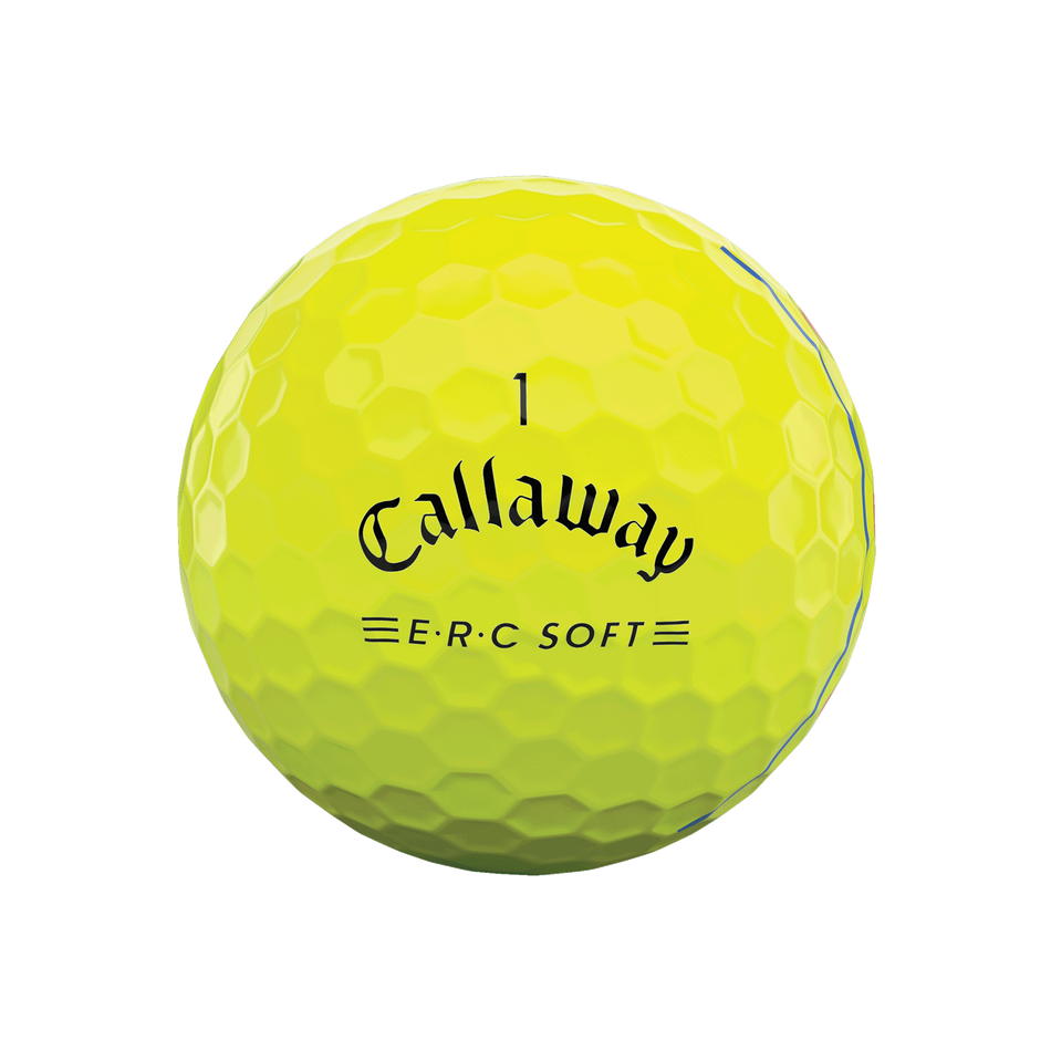 E•R•C Soft Yellow Golf Balls - View 3