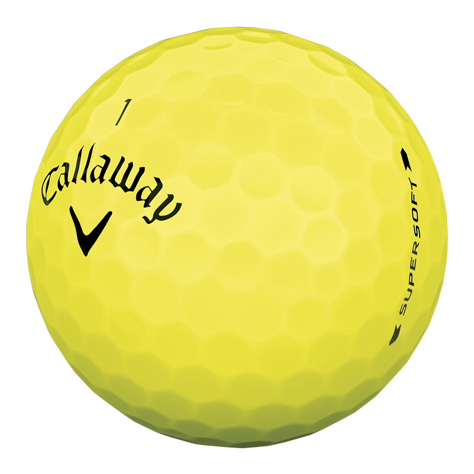 Callaway Supersoft Yellow Golf Balls - Personalised - View 3