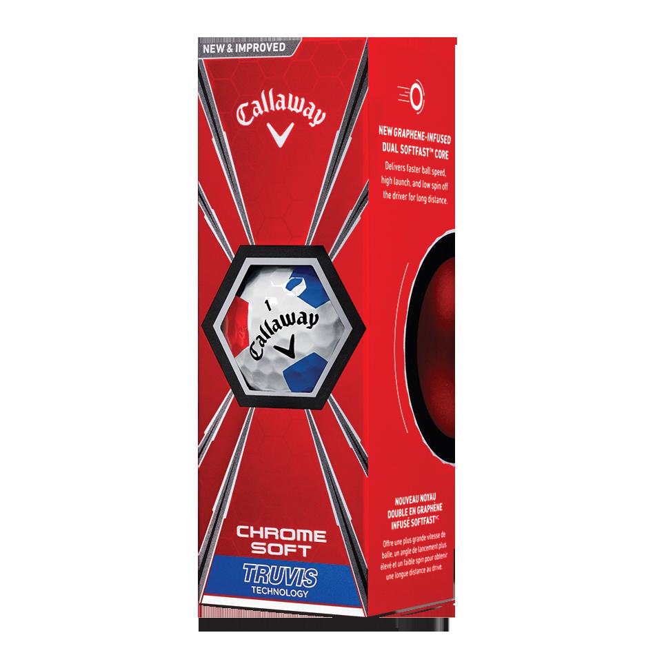 2018 Chrome Soft Truvis White Red Blue Golf Balls - View 2