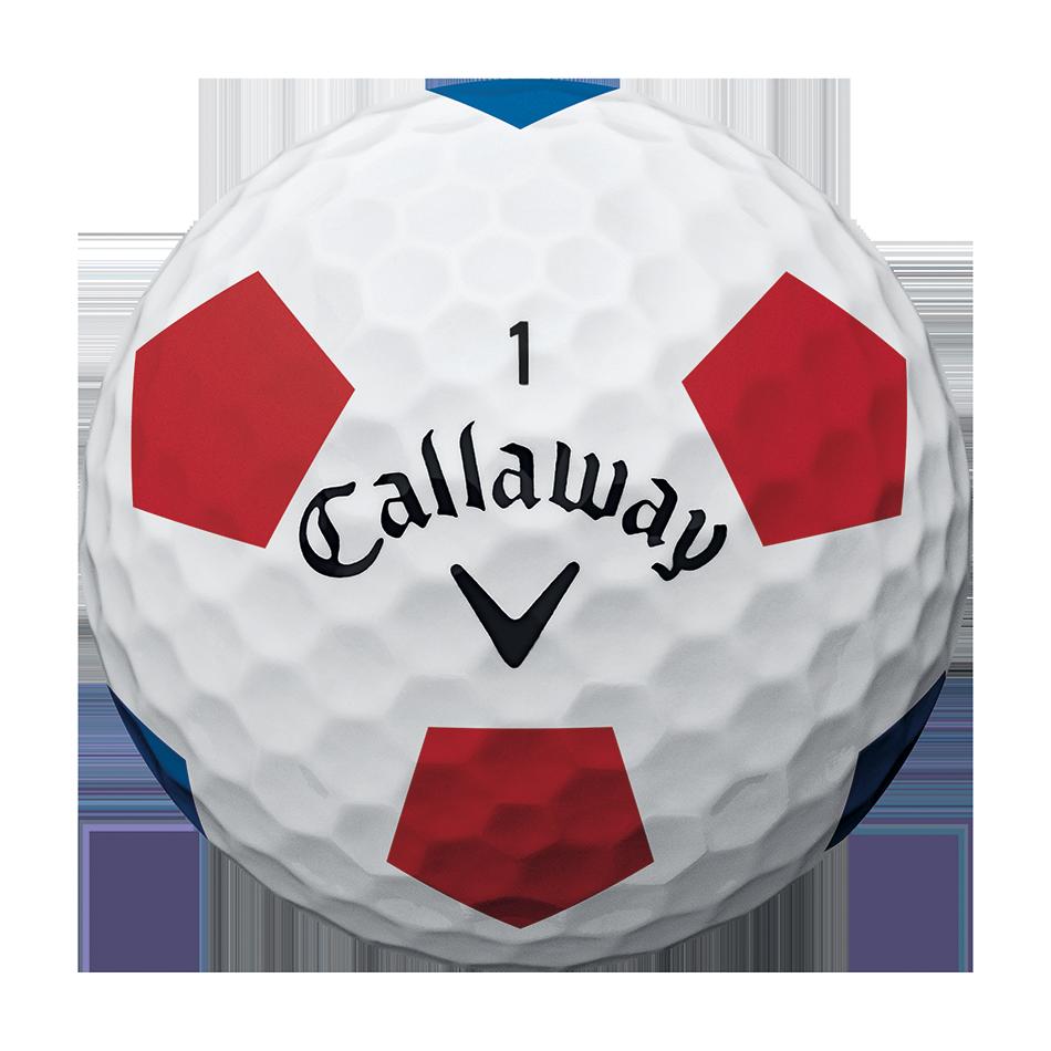 2018 Chrome Soft Truvis White Red Blue Golf Balls - View 3