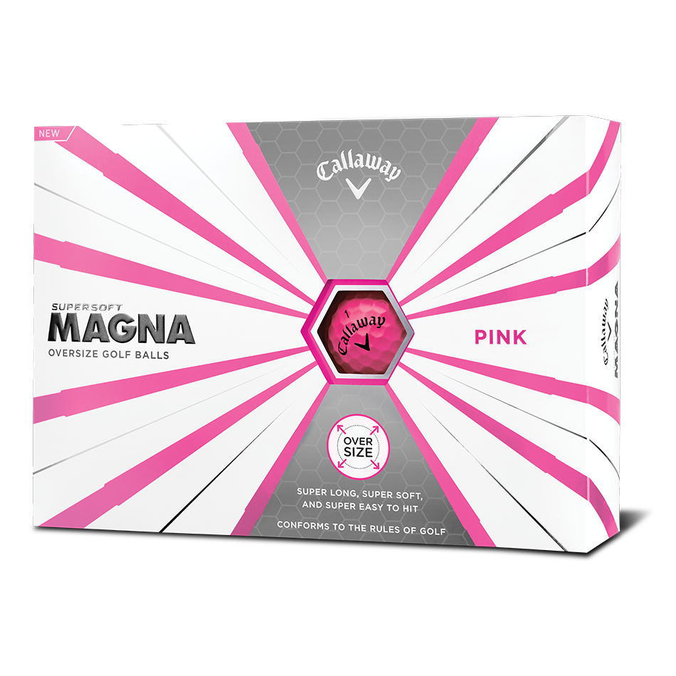 Callaway Supersoft Magna Pink Golf Balls - View 1