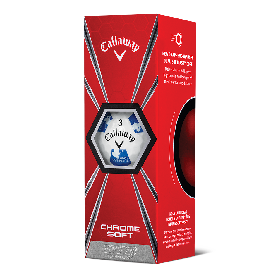 Chrome Soft Euro Tour Truvis Golf Balls - View 2