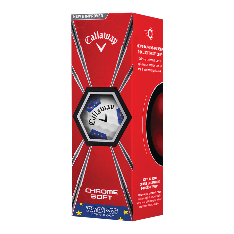Chrome Soft European Truvis Golf Balls - View 2