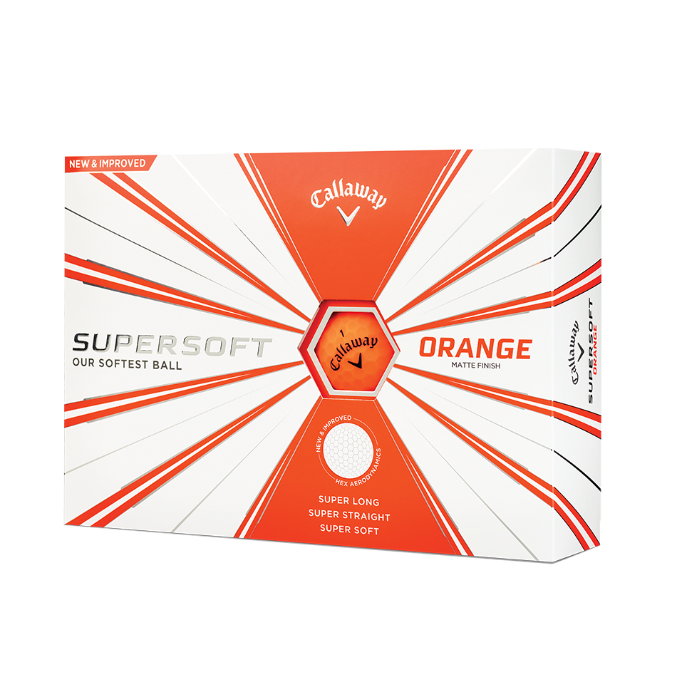 Callaway Supersoft Matte Orange Golf Balls - Personalised - View 1
