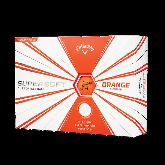 Callaway Supersoft Matte Orange Golf Balls - Personnalisées