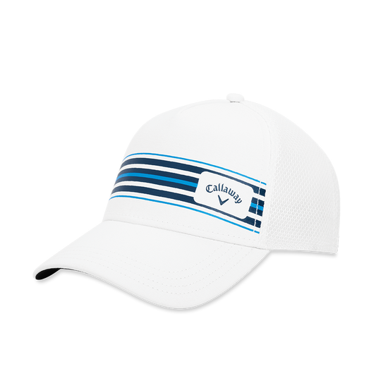 Stripe Mesh Adjustable Cap