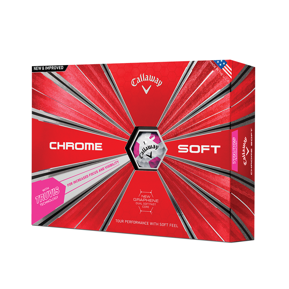 La nouvelle balle de golf Chrome Soft Truvis rose - Featured