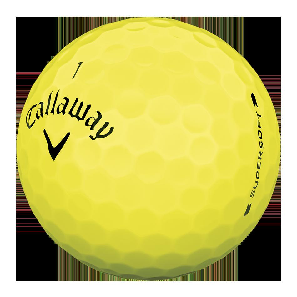 Callaway Supersoft Yellow Golf Balls - Personnalisées - View 3