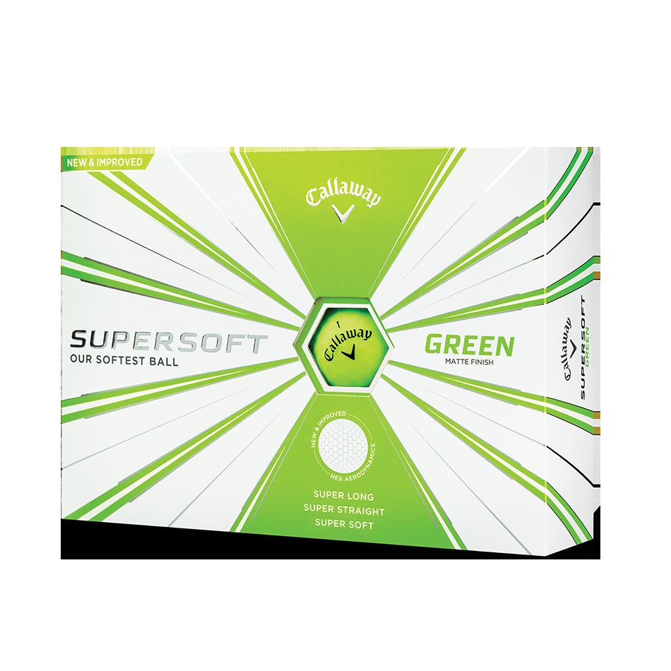 Callaway Supersoft Matte Green Golf Balls - Personnalisées - View 1