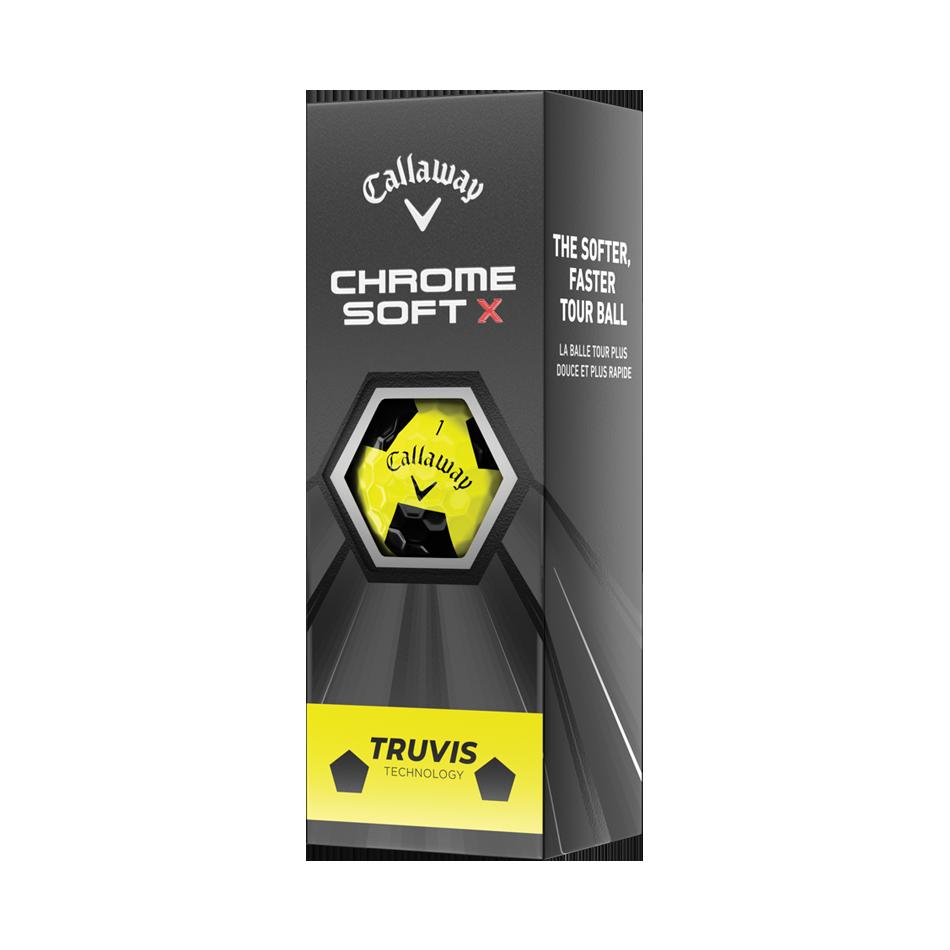 Balles de golf Chrome Soft X Truvis Yellow - View 2