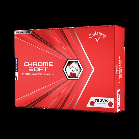 Balles de golf Chrome Soft Truvis Red 2020