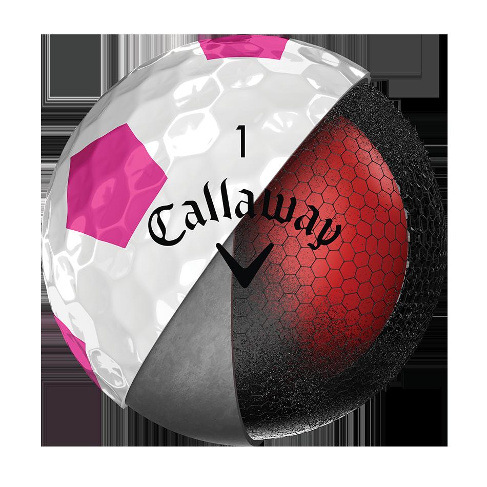 La nouvelle balle de golf Chrome Soft Truvis rose - View 4