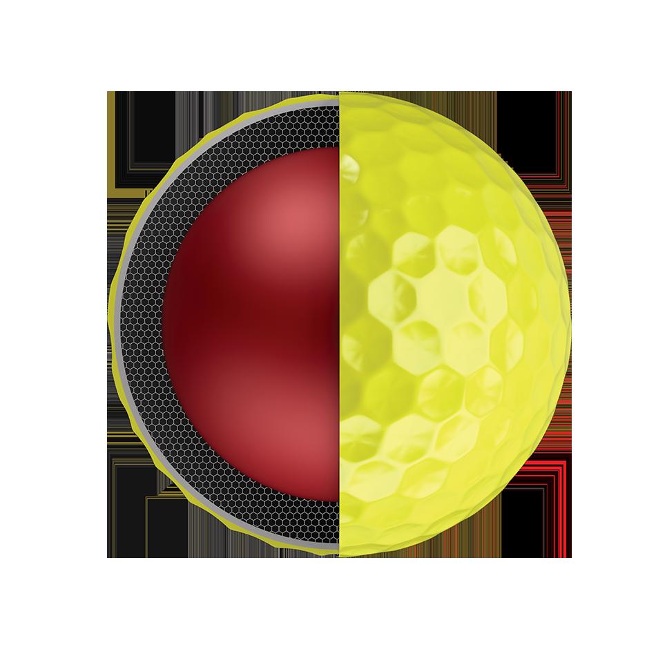 La nouvelle balle de golf Chrome Soft Jaune - View 3