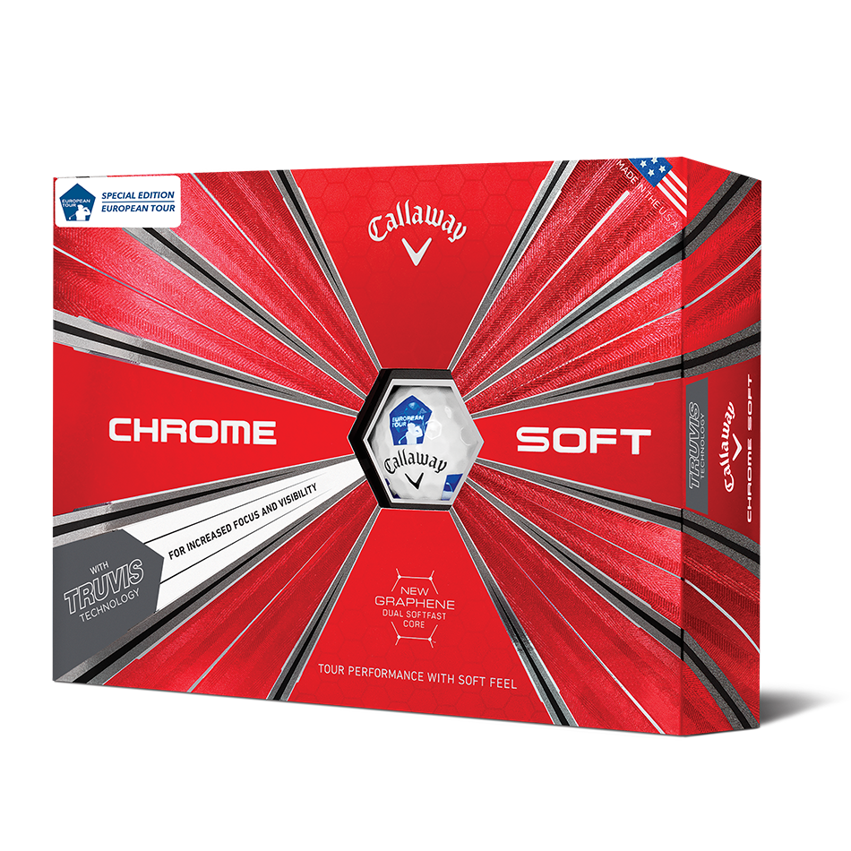 Chrome Soft Euro Tour Truvis Golf Balls - Featured