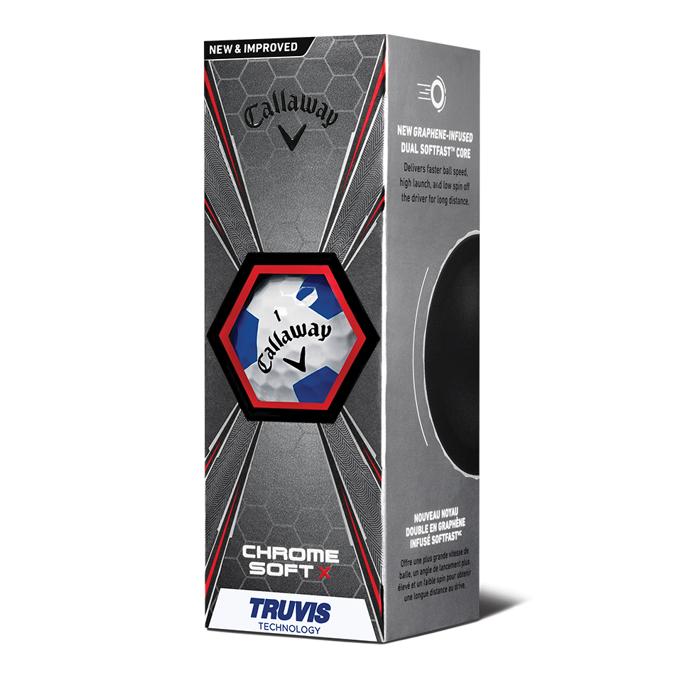 Chrome Soft X Truvis Blue Golf Balls - View 2