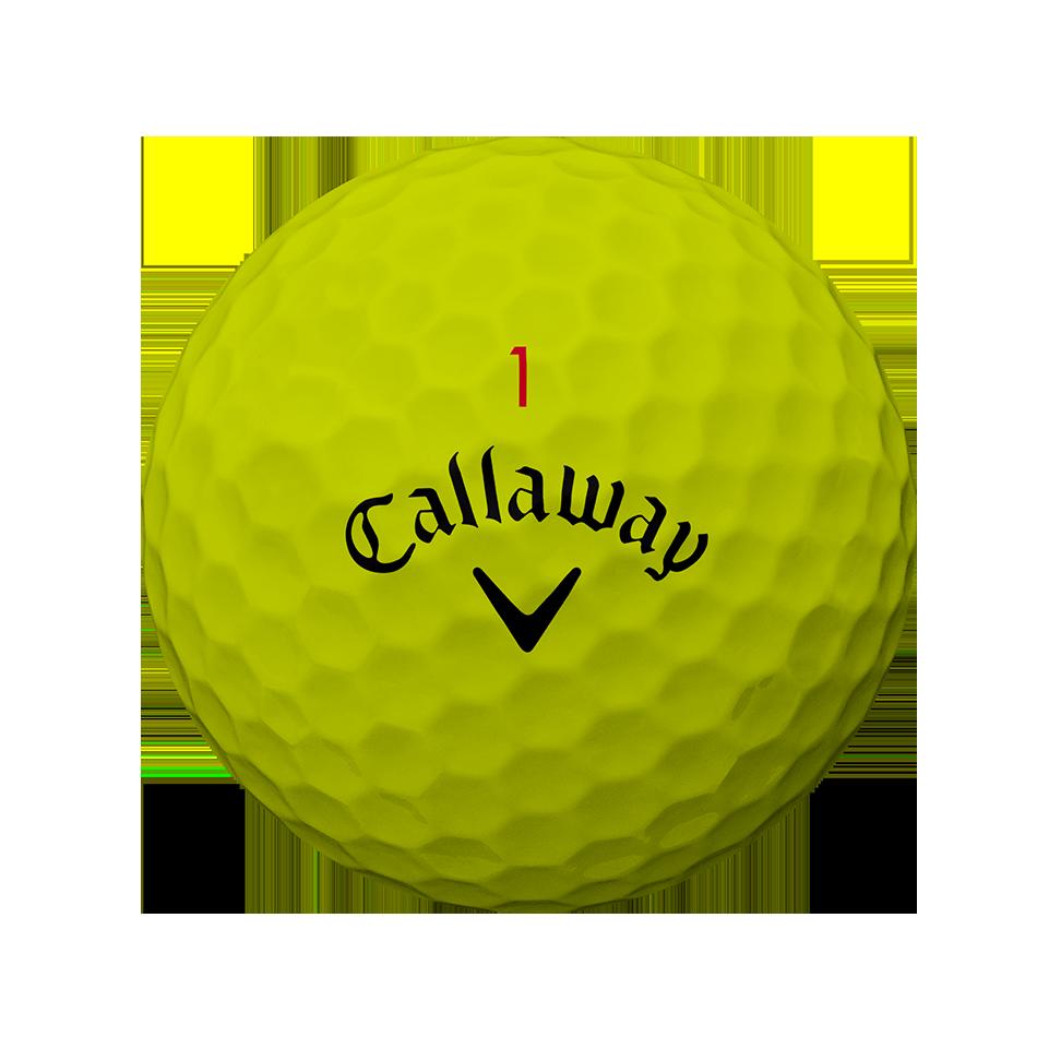 La nouvelle balle de golf Chrome Soft Jaune - Personnalisées - View 2