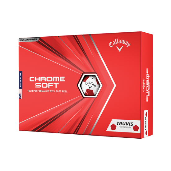 Balles de golf Chrome Soft Truvis Red 2020