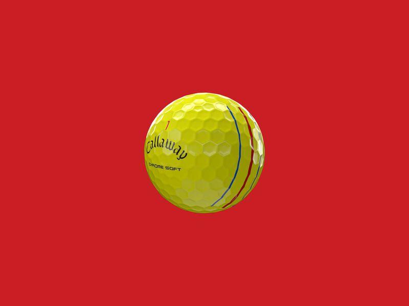 Balles de golf Chrome Soft Yellow Triple Track 2020 - Featured
