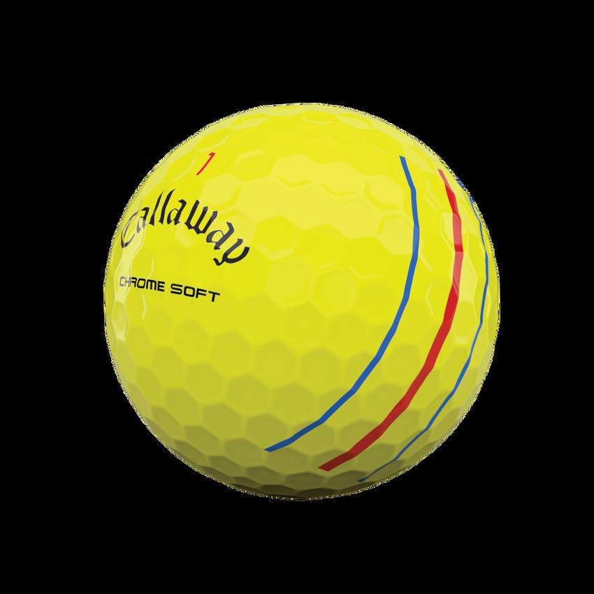 Balles de golf Chrome Soft Yellow Triple Track 2020 - View 4
