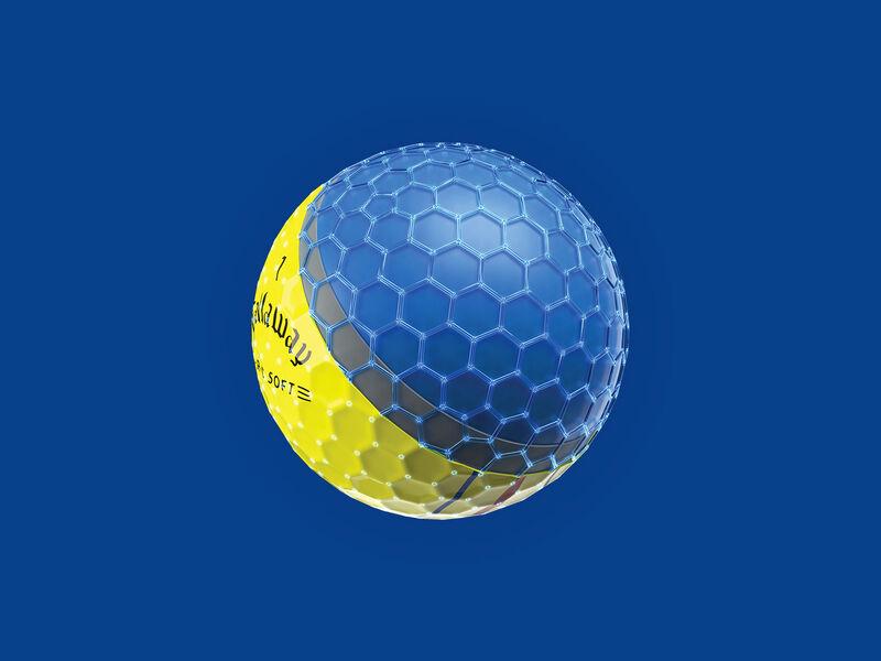 E•R•C Soft Yellow Golf Balls - Featured