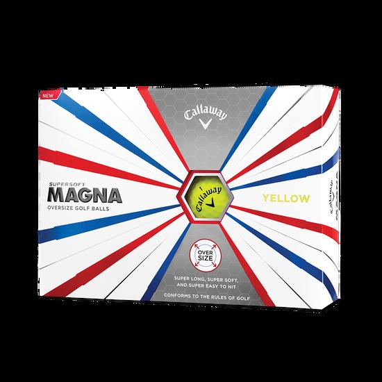 Callaway Supersoft Magna Yellow Golf Balls - Personnalisées